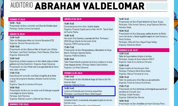 FIL Lima 2015 programa