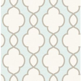 Brewster Wallcovering Turquoise Paper Geometric Wallpaper 2625-21818