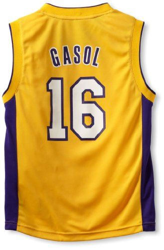 32522216f86 ... NBA Los Angeles Lakers Pau Gasol Youth 8-20 Replica Home Jersey