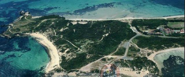Aerial shot of Point Peron, Rockingham WA