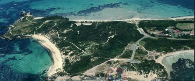 Aerial shot of Point Peron, Rockingham WA