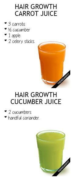 4 JUICE RECIPES FOR FASTER HAIR GROWTH