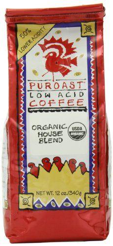 Puroast Low Acid Coffee Organic House Blend Whole Bean,12 oz Bags (Pack of 2) - http://goodvibeorganics.com/puroast-low-acid-coffee-organic-house-blend-whole-bean12-oz-bags-pack-of-2/