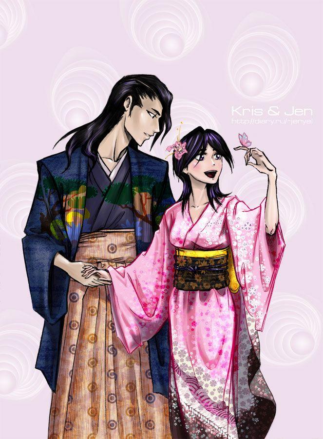 Bleach. Byakuya and Hisana by jen-and-kris.deviantart.com