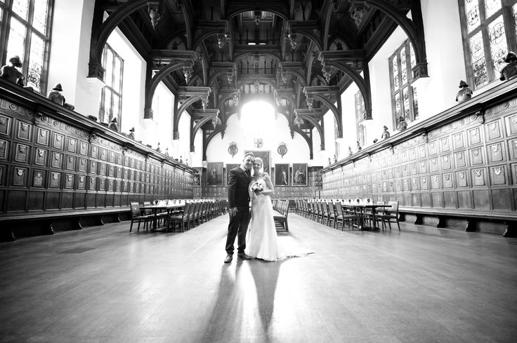 The married couple at the centre of  the Hall, beautiful gray scale picture!