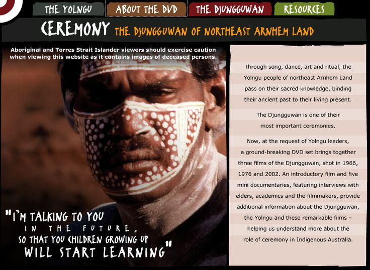 Resources, film excerpts, information and images about the Yolgnu people of Northwestern Arnhem Land from the National Sound and Film Archives digital learning resource.