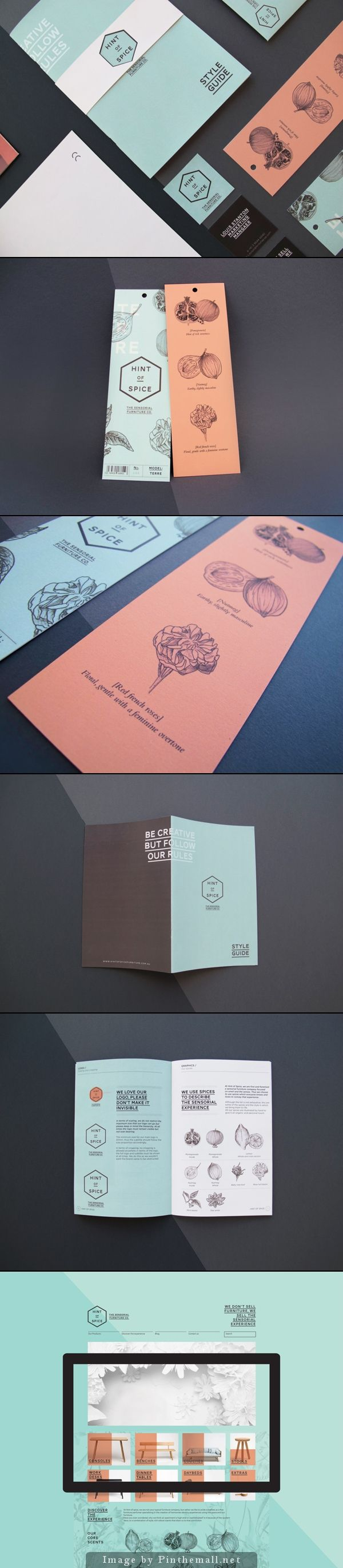 Brand Identity, Hint of Spice Furniture Co. #branding #brandidentity #design http://www.pinterest.com/designeurnet/