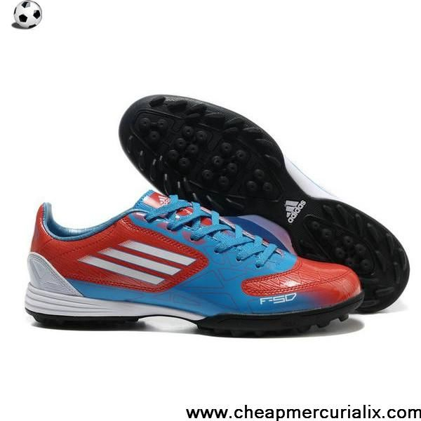 Discount Euro adidas F10 TRX TF Blue Red Black Soccer Boots For Sale