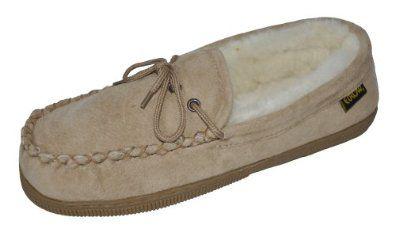 Eurow Women's Hardsole Sheepskin Moccasin, Size 9, Chestnut Eurow. $27.95