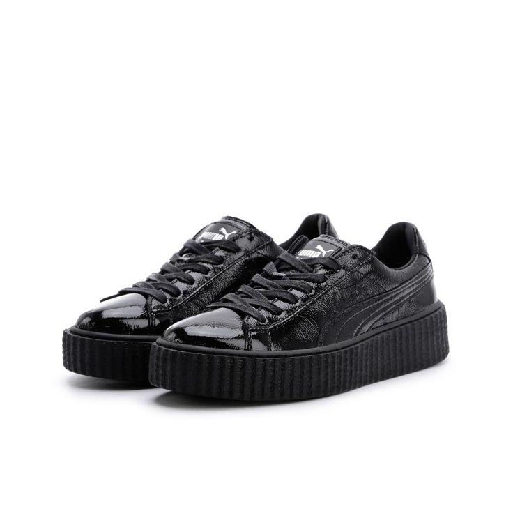 PUMA Women's Creeper Wrinkled Patent Puma Black/Puma Black Athletic Shoe