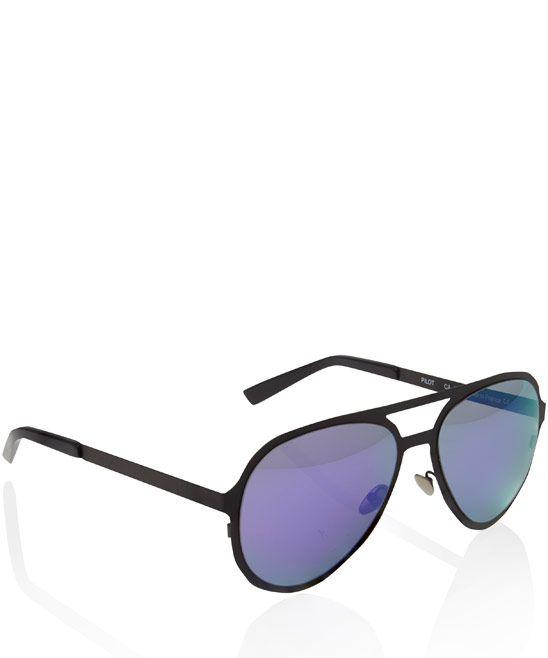 Atelier Vingt-Deux Purple Pilot Aviator Titanium Sunglasses