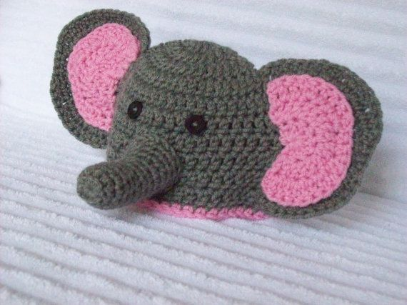 Baby Elephant hat newborn elephant beanie by NikkisCraftShoppe