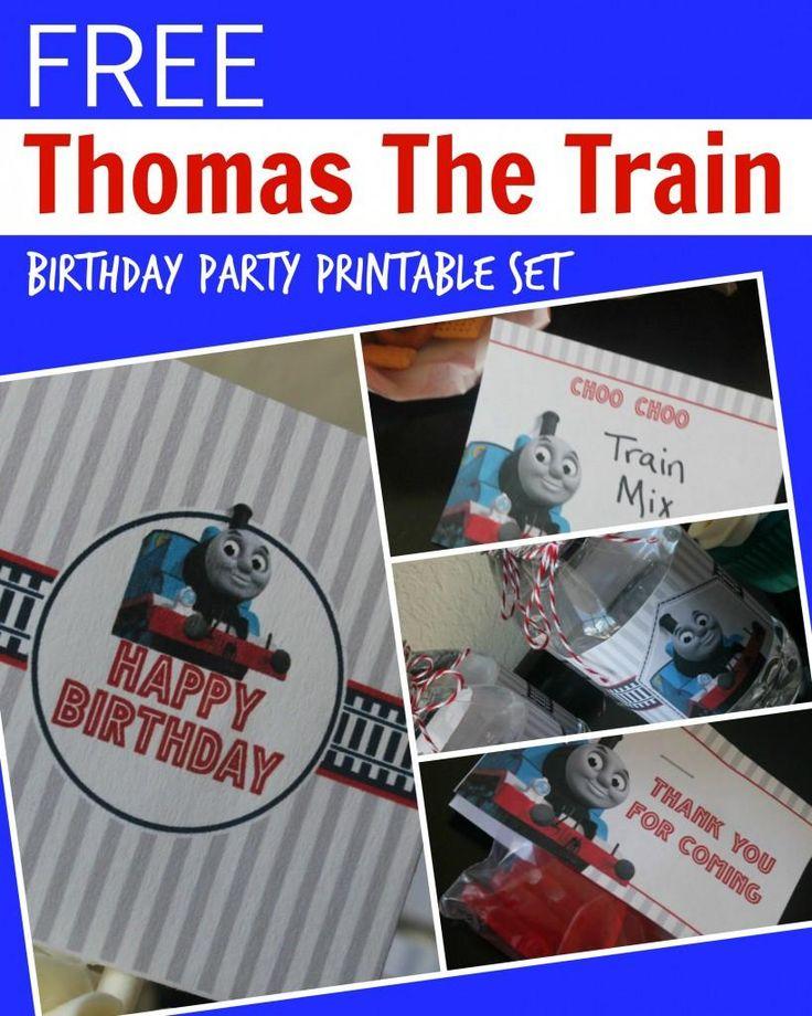 Thomas the Train Engine Birthday Party Printable Set