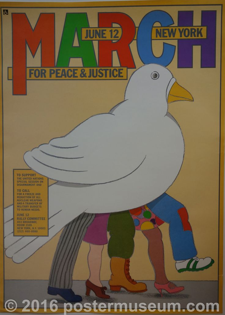 March For Peace & Justice in 2019 | Seymour chwast ...March For Peace 2019