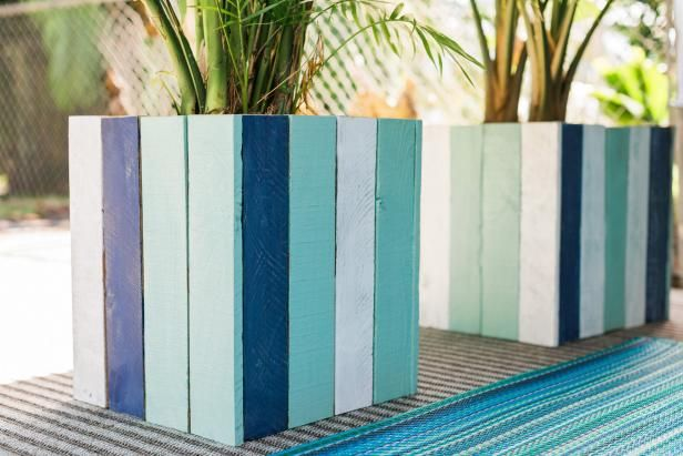 Upcycle Old Pallets Into Colorful Planter Boxes   Easy Crafts and Homemade Decorating & Gift Ideas   HGTV