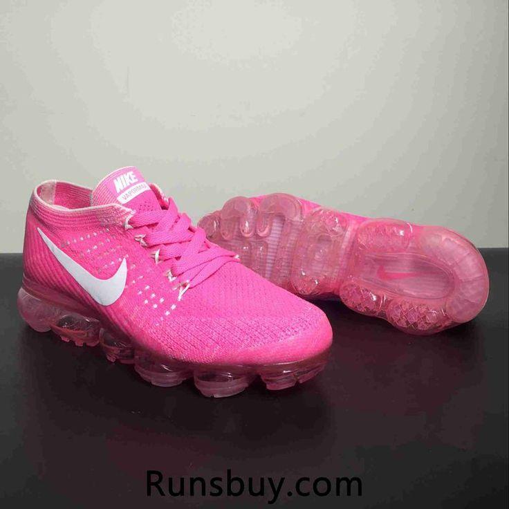 615327cd6d453 Nike Air Vapormax Flyknit Kpu Hyper Pink White Women s Running Shoes