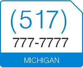 (517) 777-7777  In stock US Local Phone Number (517) 777-7777  Michigan Area Code 517 Local Vanity Telephone Number (517) 777-7777