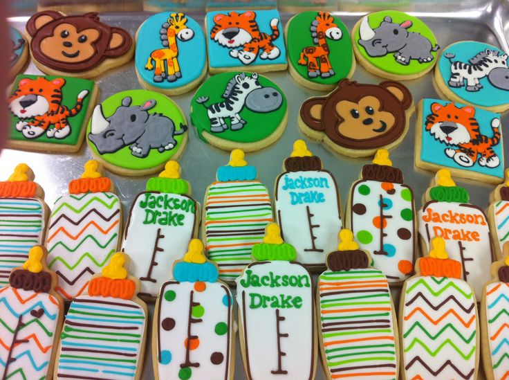 safari baby shower cookies! - hayleycakes and cookies