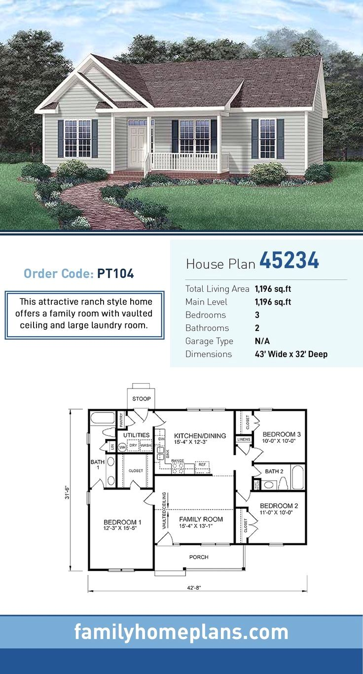 47 Most Popular Pool House Architecture Plans Ranch House Plan Family House Plans Ranch Style House Plans
