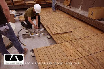 Hotel Decking With Eco Decks Ipe Deck Tiles Modern