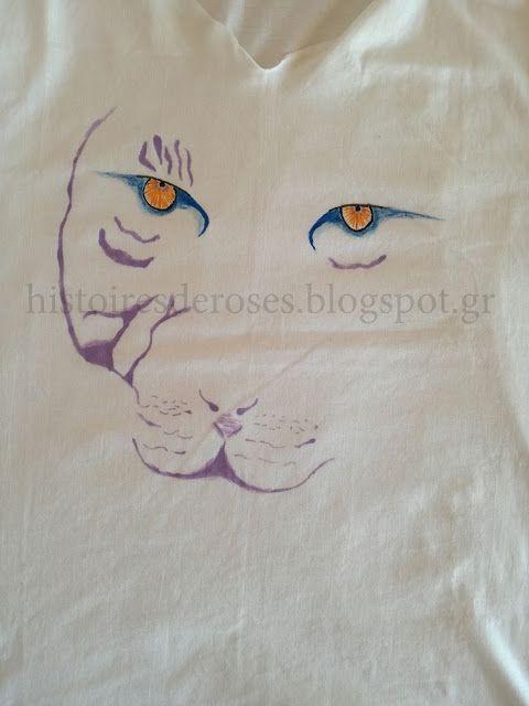 Histoires De Roses: Ζωγραφίζοντας t-shirt No2