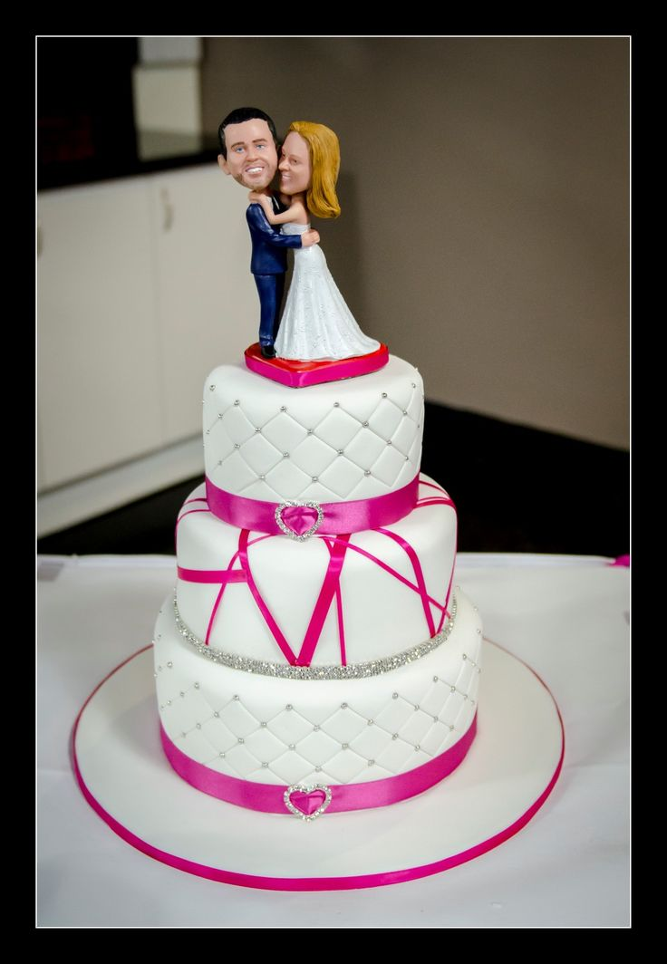 Wedding Photographer - Candid Photos of a Lifetime  Bobble Head wedding cake