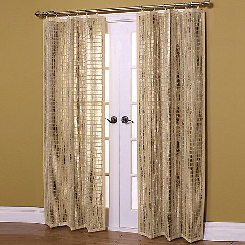 easy glide 63inch allnatural bamboo ring top window curtain panel