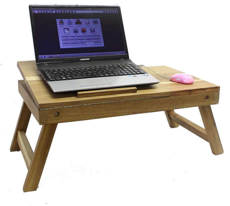 a handy laptop tray - for when you don't want it on your lap ...