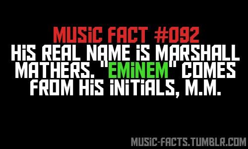 Fun fact about Eminem
