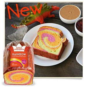 Rainbow Bread, Single 1 lb Loaf, Gift Boxed – King's Hawaiian Bakery Online Store Online Store