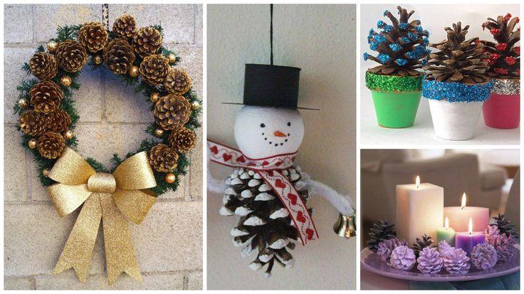 M s de 1000 ideas sobre adornos navide os para puertas en for Manualidades navidad con pinas