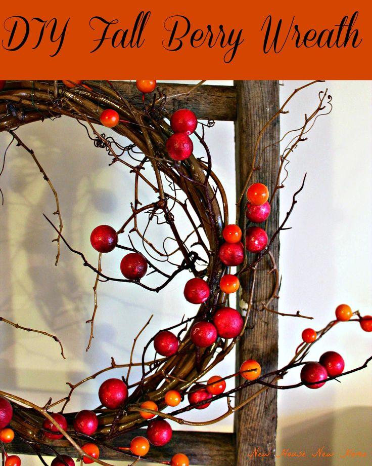 diy fall berry wreath