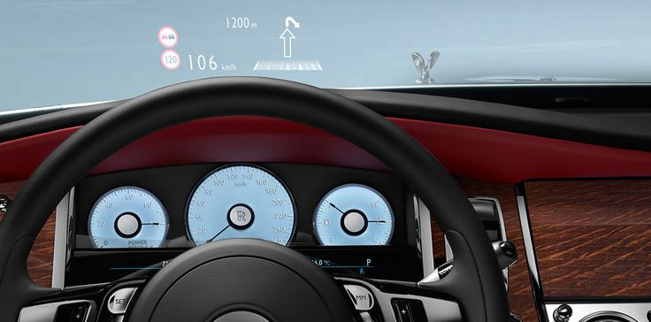 The essential information where you need it  Everything inside Ghost is designed to make driving intuitive. The Head Up Display projects driving information such as directions and the speed limit directly onto the windscreen, allowing you to concentrate on the road ahead.