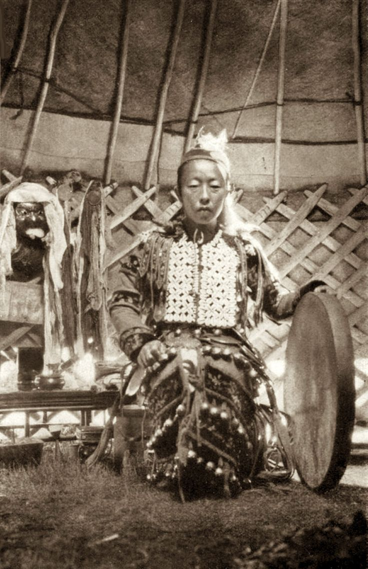 Shaman: Dagur #Shaman with her drum, 1931.