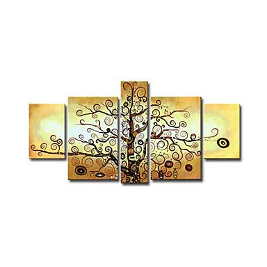 Hand-Painted+Abstract+Modern,Four+Panels+Oil+Painting+–+USD+$+158.99