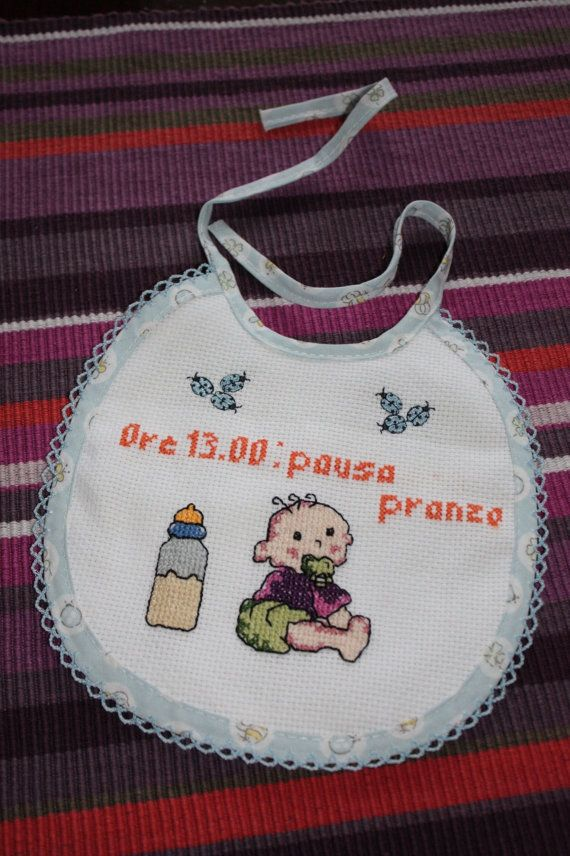 Famoso 236 best BAVAGLINI BEBE' images on Pinterest | Burp rags, Cross  KD46