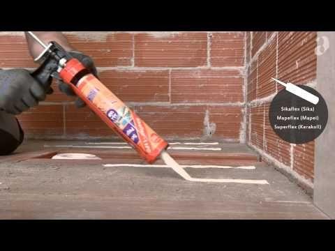 Installazione filo pavimento, piatti doccia su misura + pannelli XL IT - YouTube