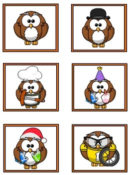 FREE Cooperative Learning Grouping Cards - Owl Theme