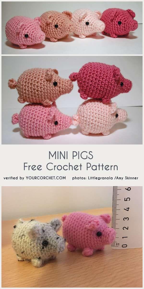 10 Quick and Easy Mini Amigurumi Patterns | Amigurumi pattern ... | 1200x600