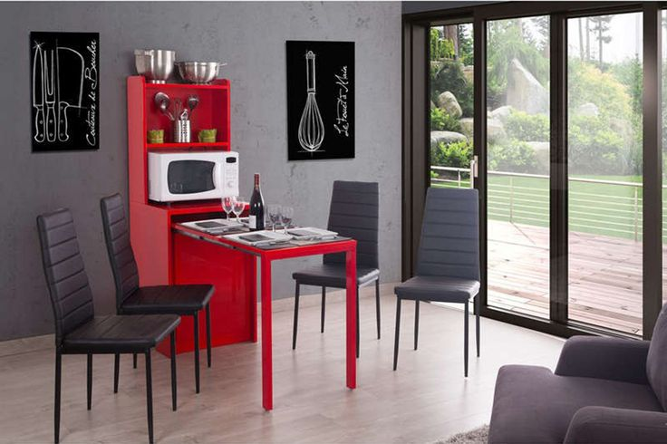 console modulable rouge Conforama