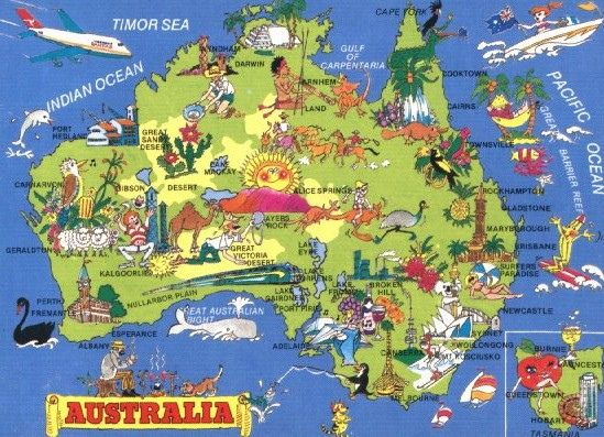 A kitch map of Australia