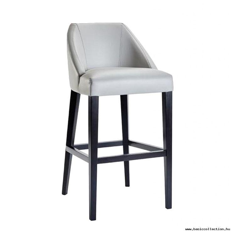 Adrian barstool #basiccollection #wooden #barstool #upholstered #seat #horeca