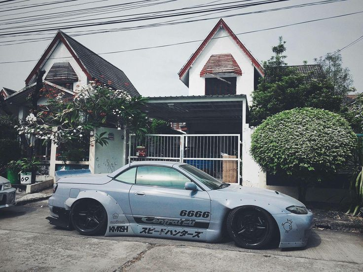 #Nissan #Silvia #S15 #Modified #Convertible #Custom #Wide_Body #Slammed #JDM