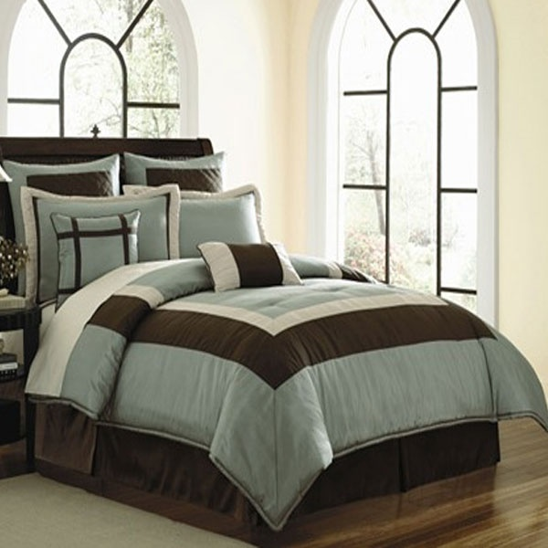 44 best Brown and Blue Bedding images on Pinterest Comforters