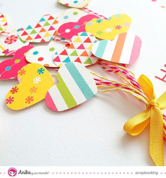 felicitacion para el día de la madre  Tarjetas para el día de la madre hechas a mano con papeles de Anita y su mundo.  #scrapbooking #cards #mothersday #tarjeta #diy #paper #papercraft #scrap #craft #manualidades #manualidadesconpapel