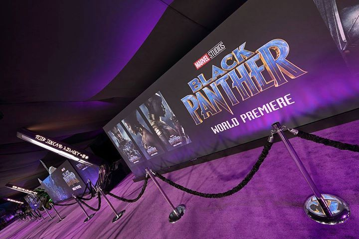The vibrant purple tones at The Black Panther premiere looked amazing! Thank you to Disney for including us on another great blockbuster film. #Hollywood #MoviePremiere #1540Productions #GregLucasDesign #BlackPanther #Disney #Marvel Photo: Line 8 Photography - facebook.com/rlwonderland