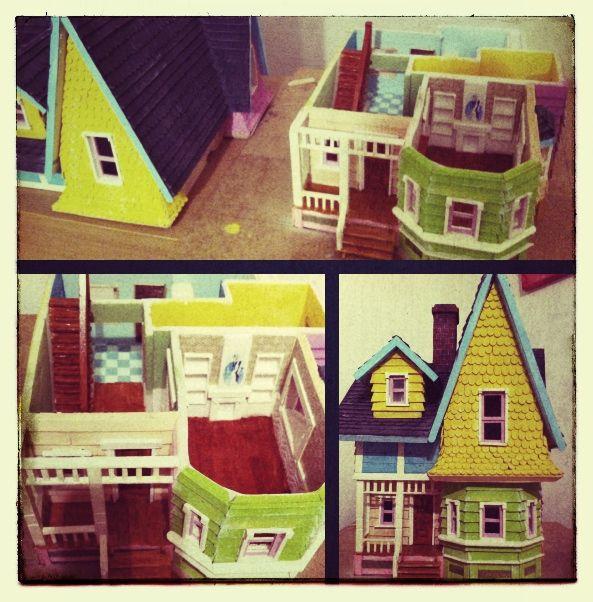 Proyecto casa up manualidades pinterest maquetas - Como hacer casas en miniatura ...