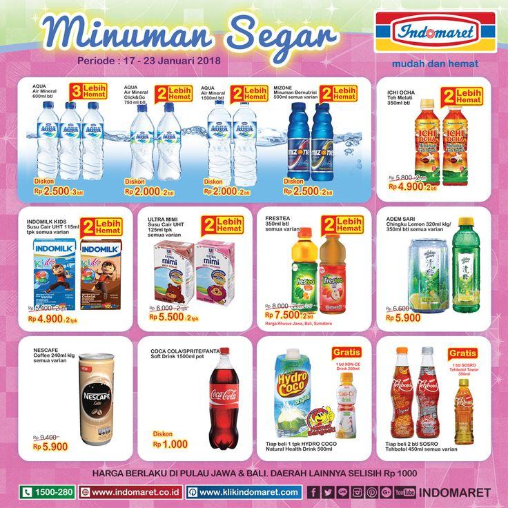 Promo #SuperHemat Minuman Segar  Periode : 17 - 23 Januari 2018 Info promo lebih lengkap : https://goo.gl/mJ6K4z