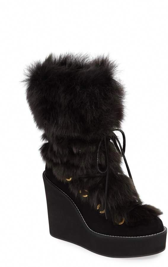 3c3b356d2480 Stuart Weitzman Nikita Genuine Fur Boot  StuartWeitzman