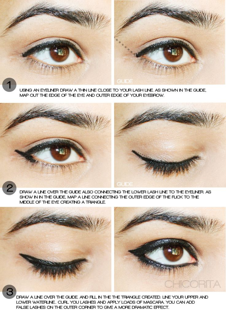 Pin by Aditi Y on Chicorita How to apply eyeliner